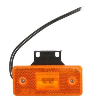 101Z W17D lampa obrysowa prostokątna diodowa z odblaskiem i zawiasem pomarańczowa 12/24V